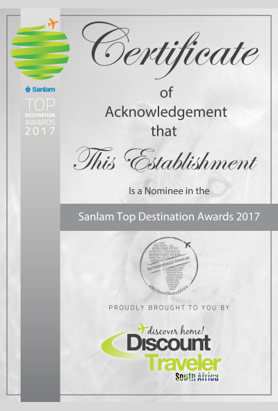 Sanlam Discount Traveler Award Winner 2017