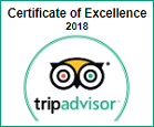 Certificate of Excellence 2018, Trip Advisor, Rivonia